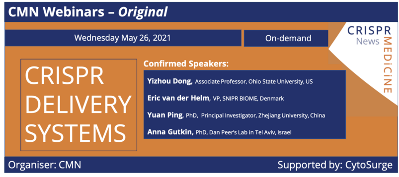 May 26th 2021 - CRISPR Delivery Systems