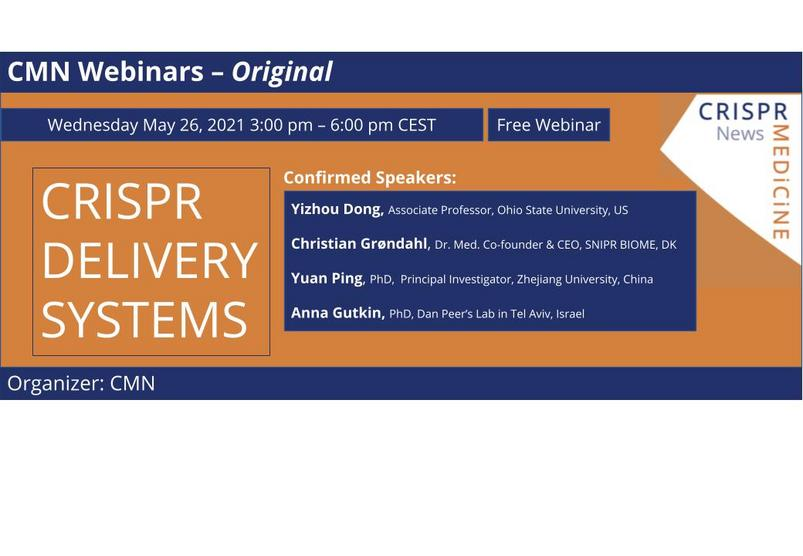 May 26th - CRISPR Delivery Systems